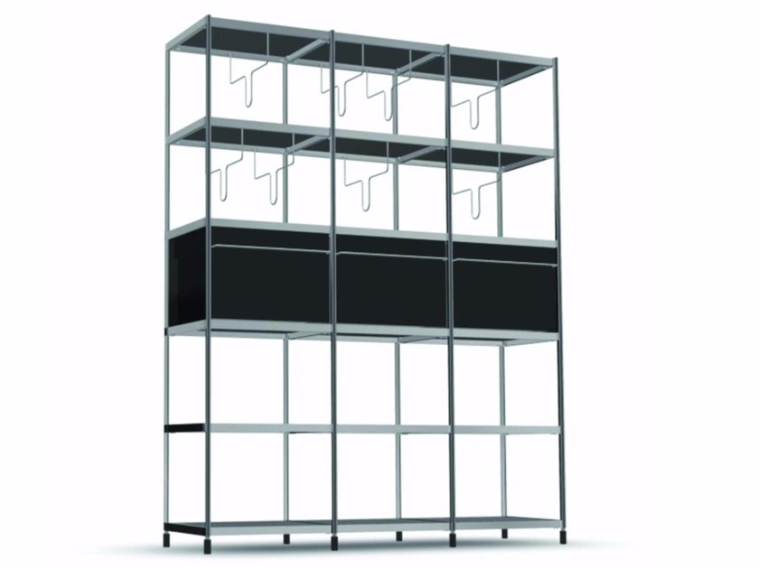 Open modular bookcase LIB012 - SEC_lib012 - Alias