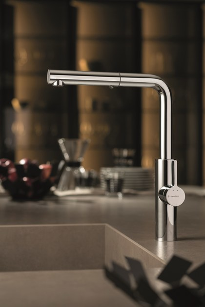 Countertop kitchen mixer tap with swivel spout with pull out spray LIBERA KITCHEN | Kitchen mixer tap with pull out spray - NEWFORM