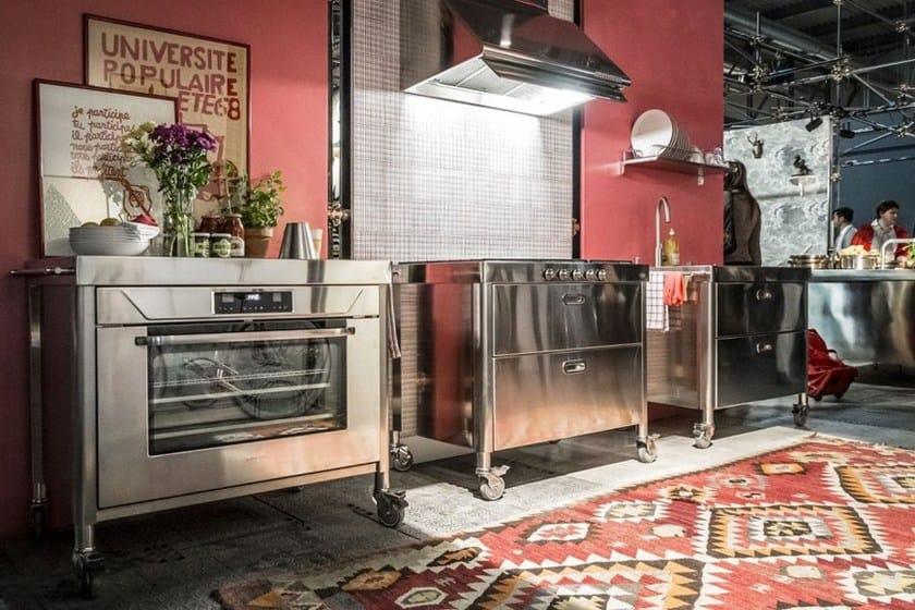 cucina in acciaio inox con forno LIBERI IN CUCINA  Modulo cucina ...