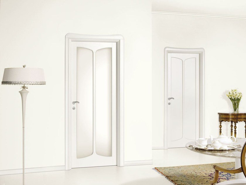 Lacquered wood and glass door LIBERTY - LEGNOFORM