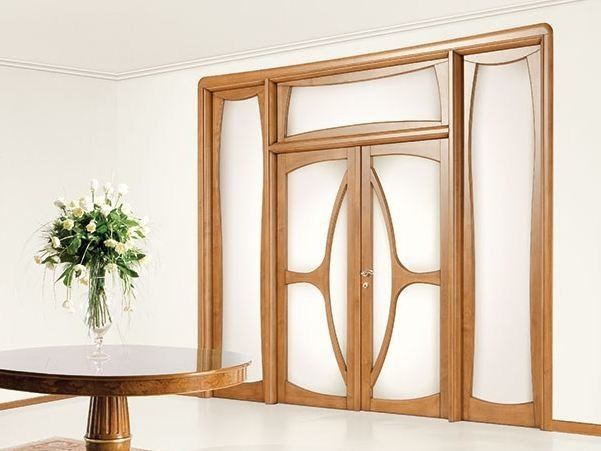 Wood and glass door LIBERTY by LEGNOFORM