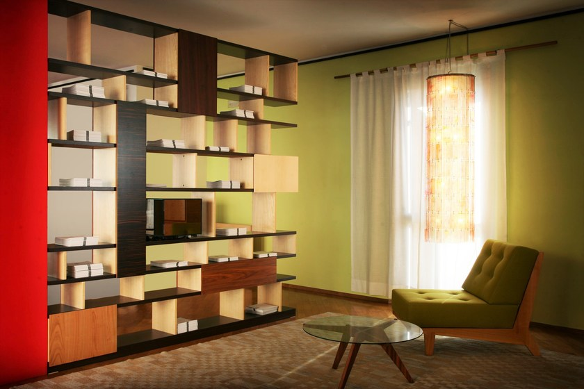 Open wooden bookcase BABILONIA | Bookcase by Morelato