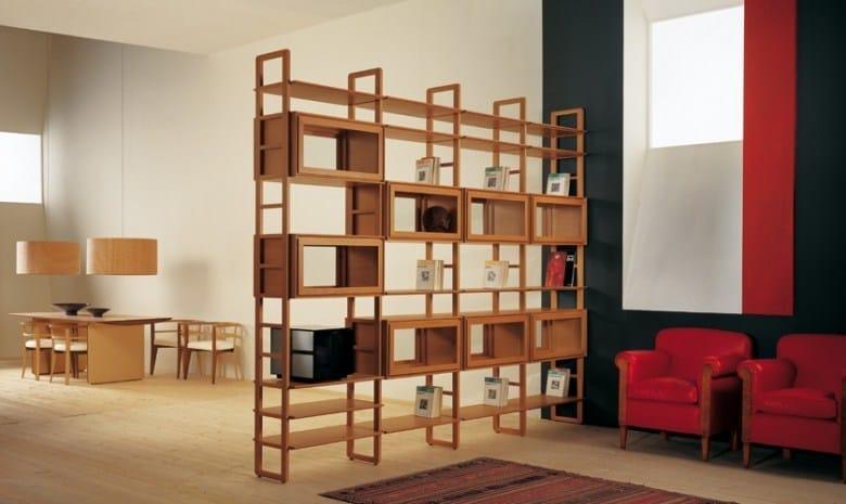 Libreria bifacciale in legno scala zero libreria for Libreria velux