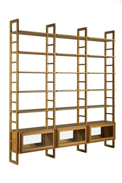 Double-sided wooden bookcase SCALA ZERO | Double-sided bookcase - Morelato