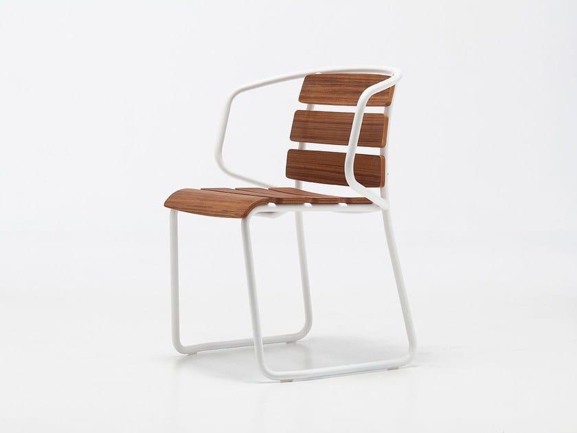 Contemporary style stackable teak garden chair LIDO OUT 02 | Garden chair - Very Wood
