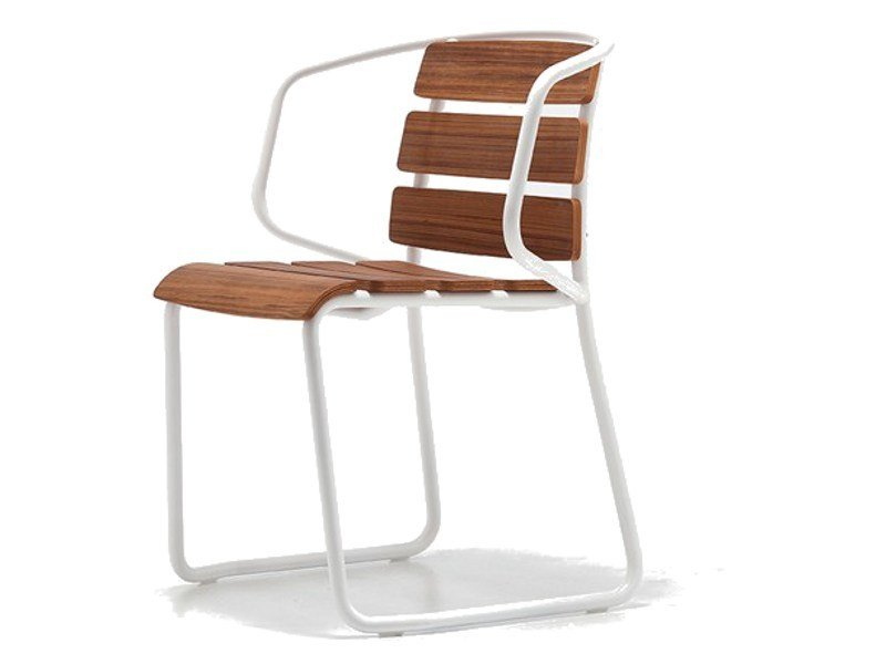 Stackable teak garden chair LIDO OUT 02 - Very Wood