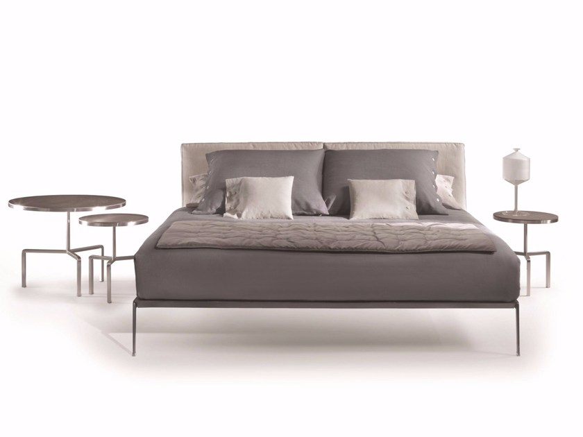 Leather double bed LIFESTEEL | Bed - FLEXFORM