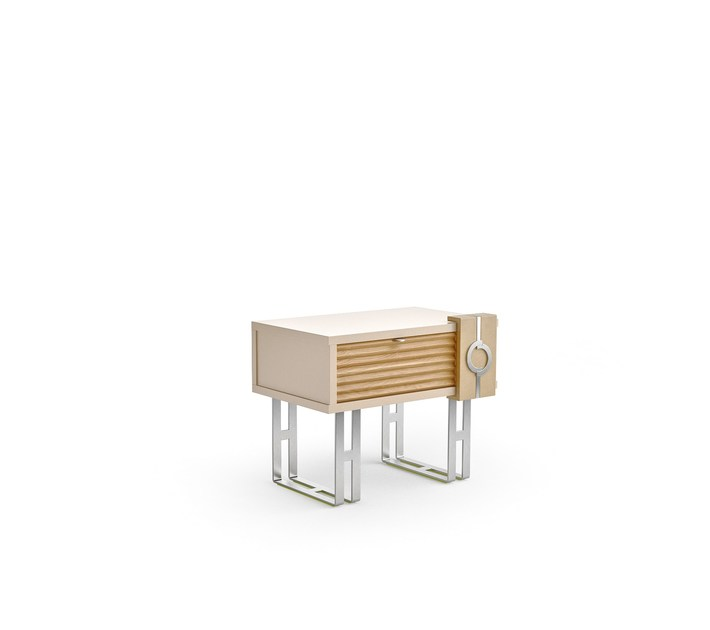 Contemporary style lacquered rectangular wooden bedside table with drawers LIFT | Bedside table with drawers by Caroti