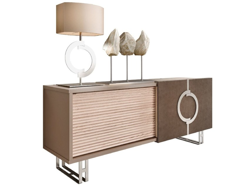 Solid wood sideboard with sliding doors LIFT | Sideboard - Caroti
