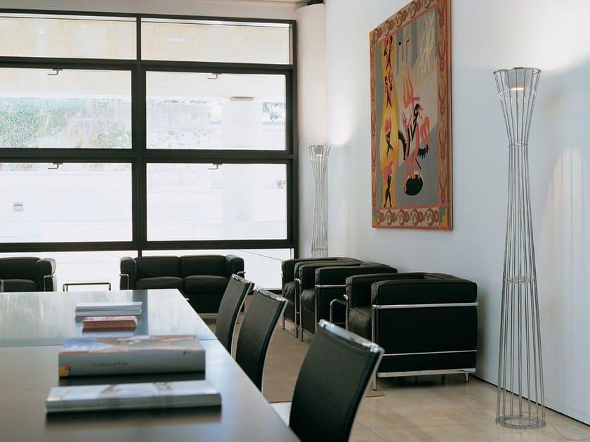 Halogen steel floor lamp LIGHTWIRE F1 - Rotaliana