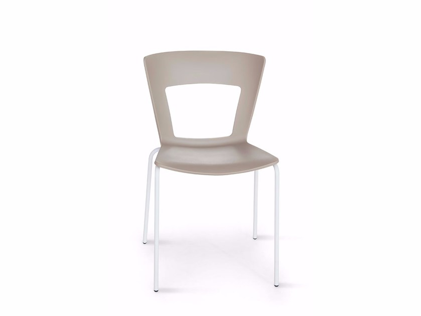 Stackable open back chair LILIA | Chair by RIFLESSI