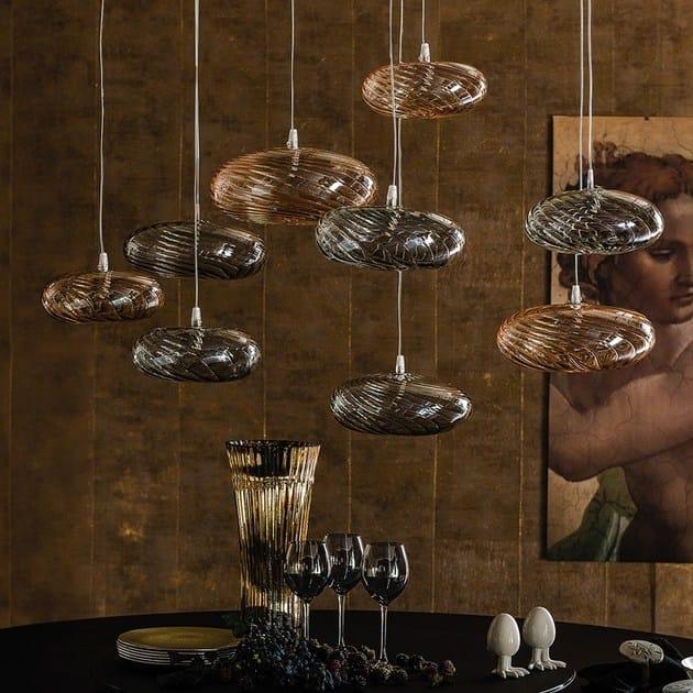 lampada a sospensione in vetro borosilicato lim-z - cattelan italia - Lampade Arabe Italia