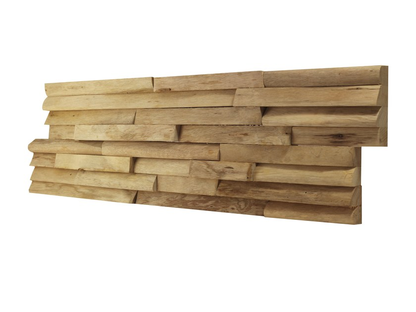 Indoor wooden 3D Wall Cladding LIMBA NATURA - Claddywood