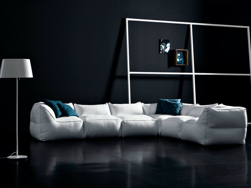 Sectional modular fabric sofa with removable cover LIMBO | Sofa - PIANCA