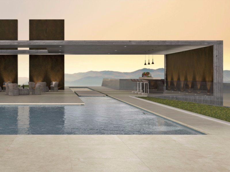 Porcelain stoneware outdoor floor tiles LIMESTONE MOON | Outdoor floor tiles - FMG Fabbrica Marmi e Graniti