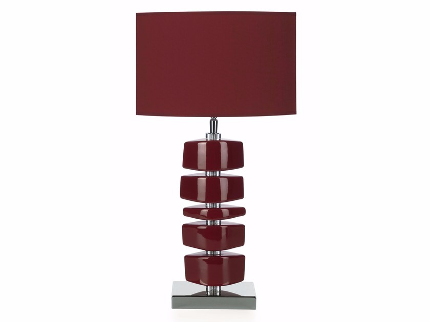Contemporary style ceramic table lamp LINA BL - ENVY
