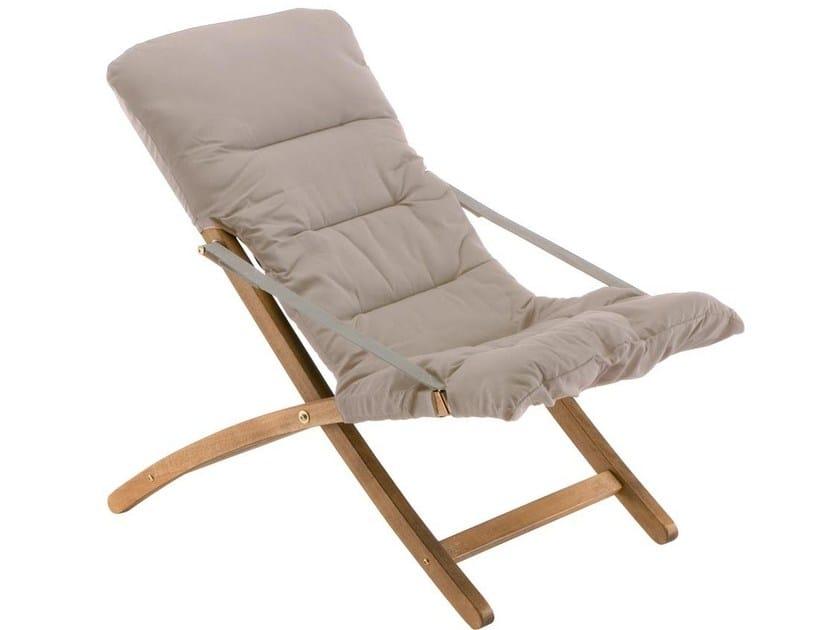 Folding recliner deck chair LINDA SOFT by FIAM