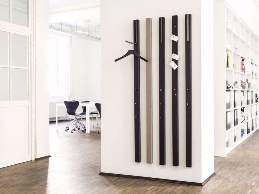 Wall-mounted MDF coat rack LINE | Coat rack - Schönbuch
