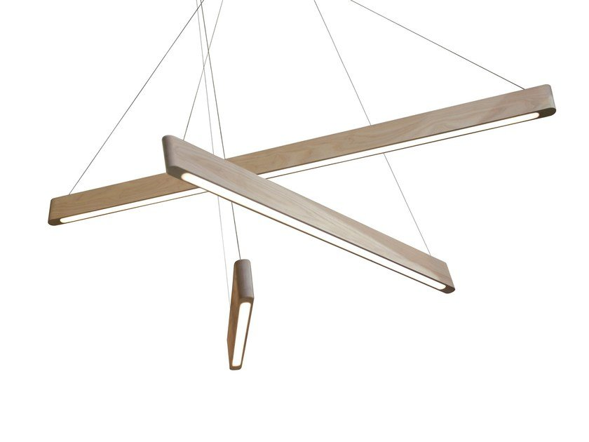 LED direct light ash pendant lamp LINE LIGHT by Matthew McCormick