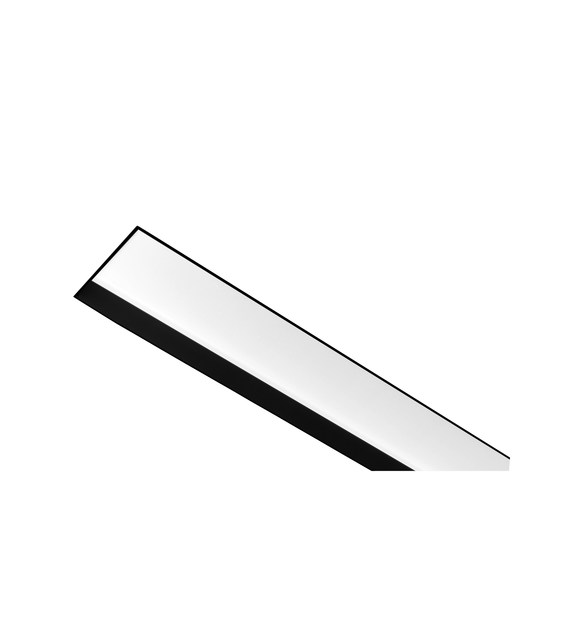 Contemporary style direct-indirect light LED rectangular aluminium built-in lamp LINE R F - ONOK Lighting