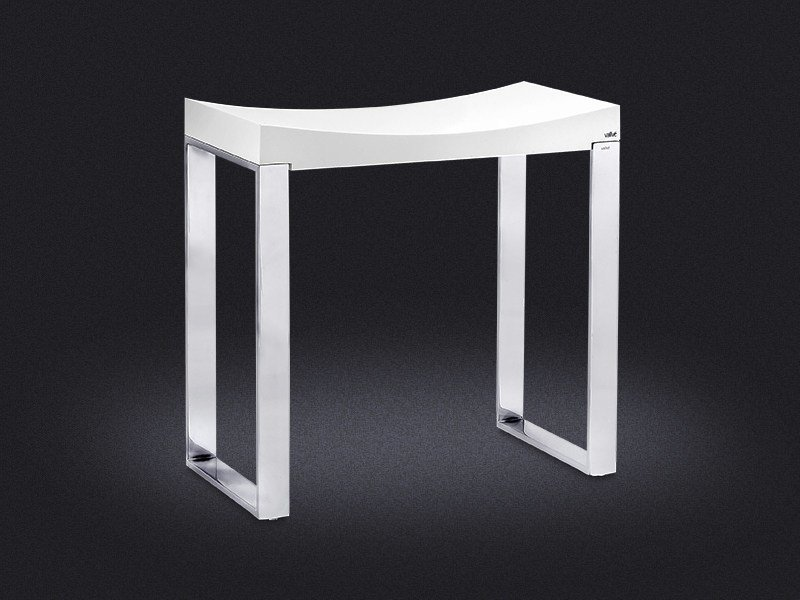 Resin bathroom stool LINE | Bathroom stool - Vallvé Bathroom Boutique