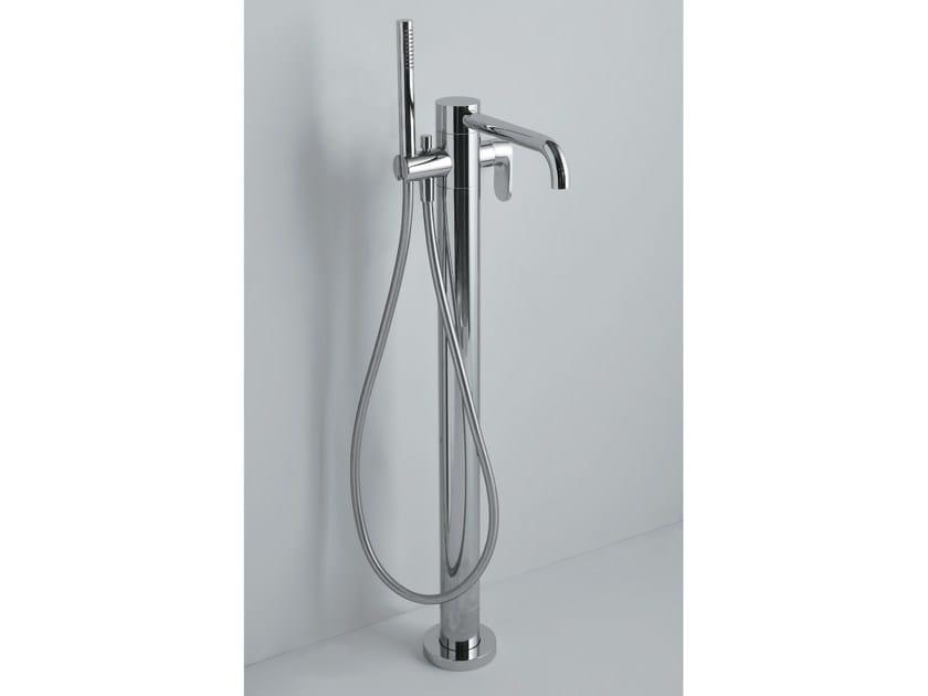 Floor standing bathtub tap with hand shower LINEA | Bathtub tap with hand shower by AZZURRA sanitari