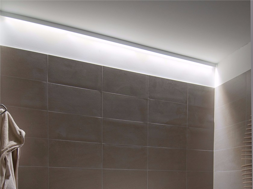 Direct light aluminium ceiling lamp LINEA - GLIP by S.I.L.E