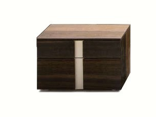 Bedside table with drawers LINEAR | Rectangular bedside table - Silenia