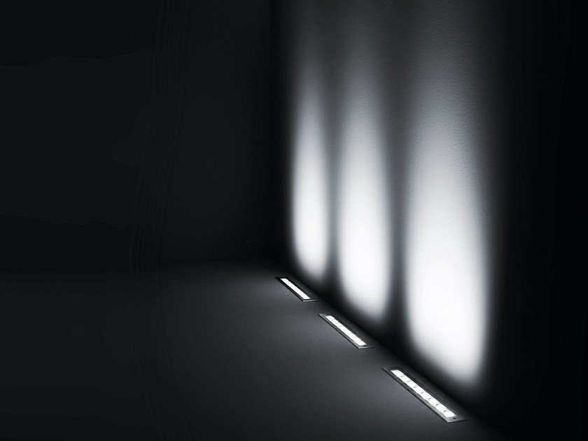 Walkover light extruded aluminium steplight LINEAR by SIMES