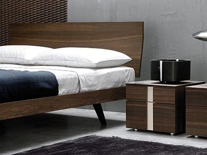 Bedside table with drawers LINEAR | Square bedside table - Silenia