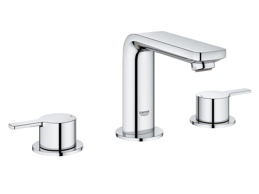 3 hole countertop washbasin mixer LINEARE NEW   3 hole washbasin mixer by Grohe