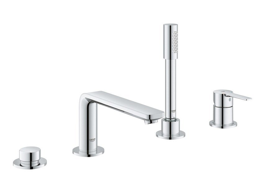4 hole bathtub mixer with diverter LINEARE NEW | 4 hole bathtub set by Grohe