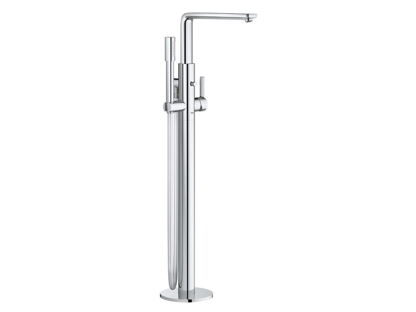 Floor standing metal bathtub mixer with diverter LINEARE NEW   Bathtub mixer by Grohe