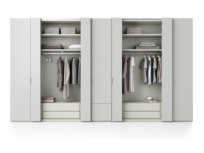 Contemporary style wardrobe with folding doors LINEARE | Wardrobe with folding doors - Caccaro