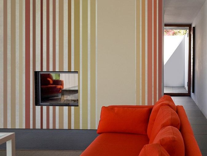Striped vinyl wallpaper LINES WINE - GLAMORA