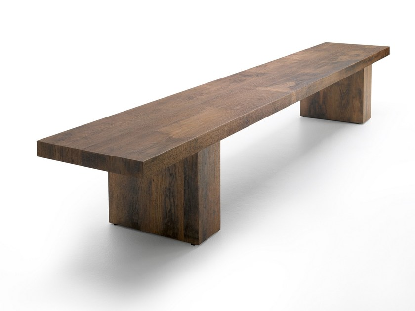 Wooden bench LINK 2 | Wooden bench - MDF Italia