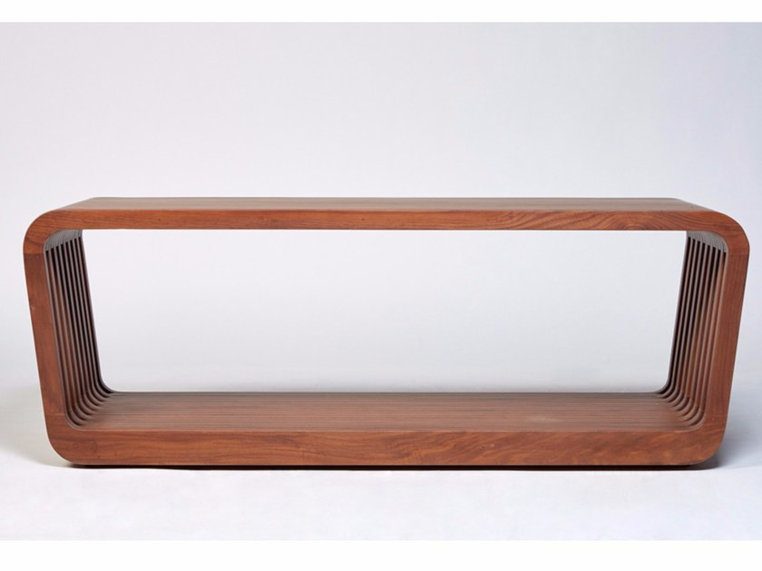 Walnut indoor bench LINK | Indoor bench by Reda Amalou