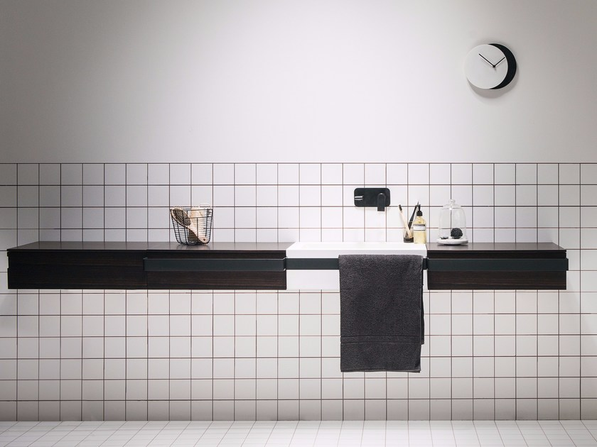 Single washbasin with towel rail LINK | Washbasin - EVER by Thermomat Saniline