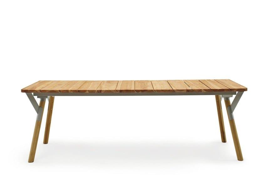 Extending wooden table LINK | Wooden table - Varaschin