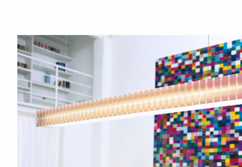 Fluorescent polycarbonate pendant lamp LISCA S2 - Rotaliana