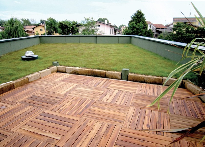 Piastra in legno per pavimentazione da giardino LISTOPLATE - Onek