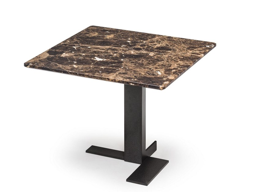 Square marble side table LITH | Square coffee table - Arketipo