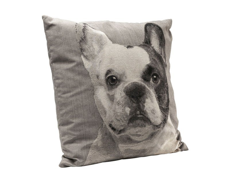 Square fabric cushion LITTLE MASTIFF FACE - KARE-DESIGN