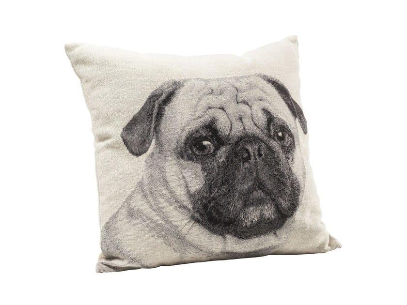 Square fabric cushion LITTLE MOPS FACE - KARE-DESIGN