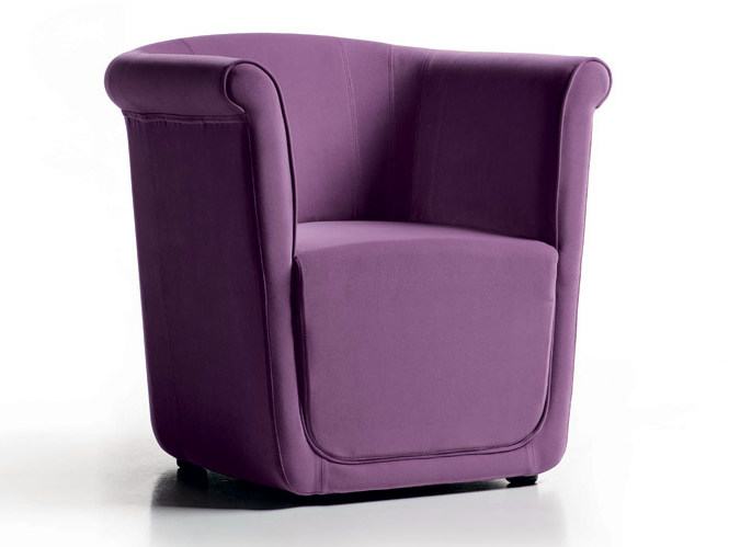 Fabric armchair with armrests LIZ | Armchair - D.M.