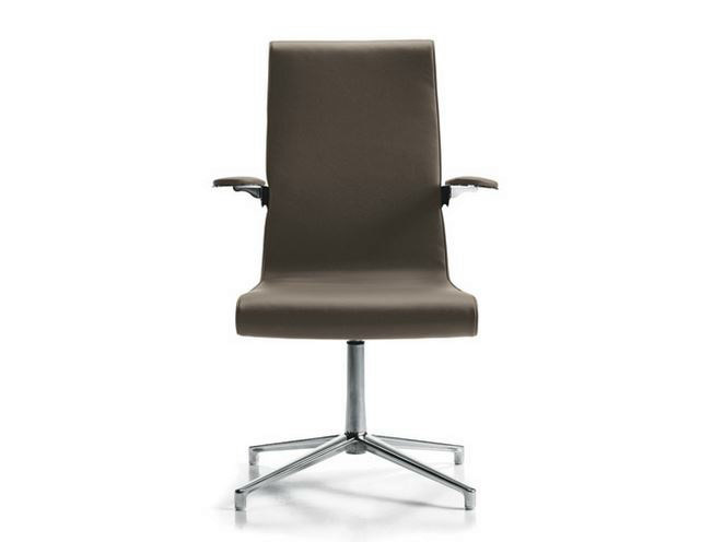 Executive chair with 4-spoke base with armrests LIZ | Executive chair - D.M.