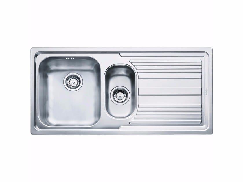 Lavello a una vasca e mezzo da incasso in acciaio inox con sgocciolatoio LLX 651 - FRANKE
