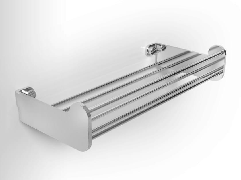 Stainless steel bathroom wall shelf LOBELIA INOX | Bathroom wall shelf - Alna