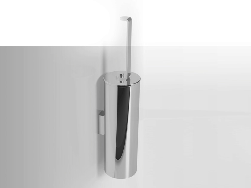 Wall-mounted stainless steel toilet brush LOBELIA INOX | Wall-mounted toilet brush - Alna