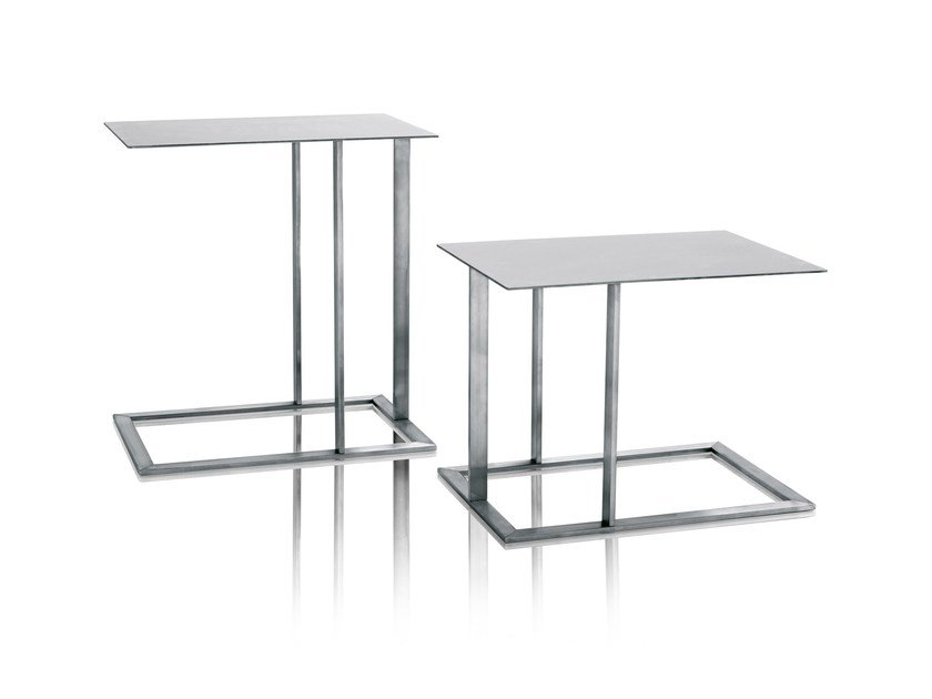 Stainless steel side table LOFT | Coffee table - Arketipo